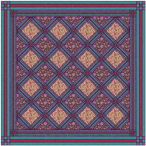Royal Cornerstone Sashed quilt